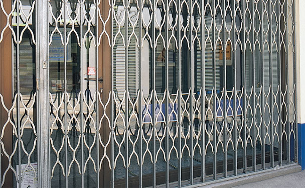 Grille de protection magasin